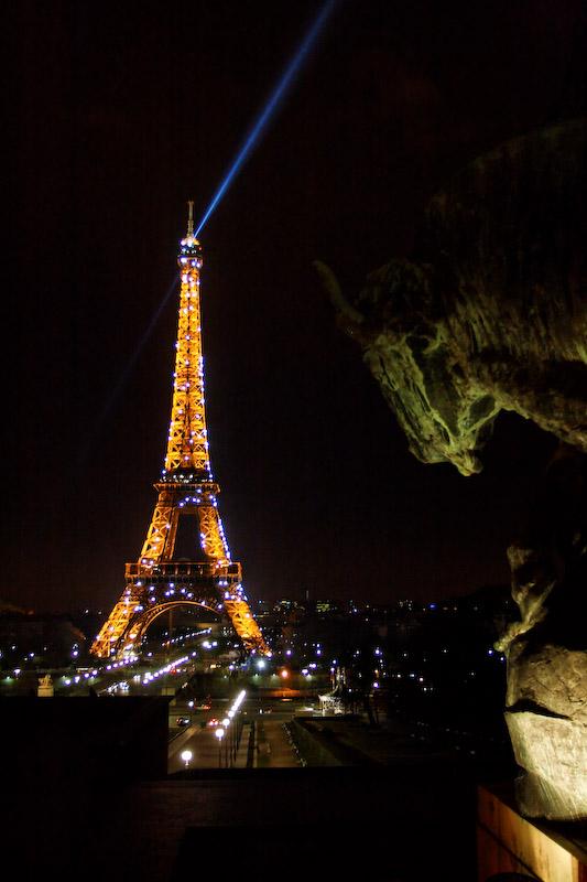 Vue de la terrasse du Café de l'Homme - Paris Trocadéro
