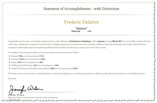Statement of Distinction