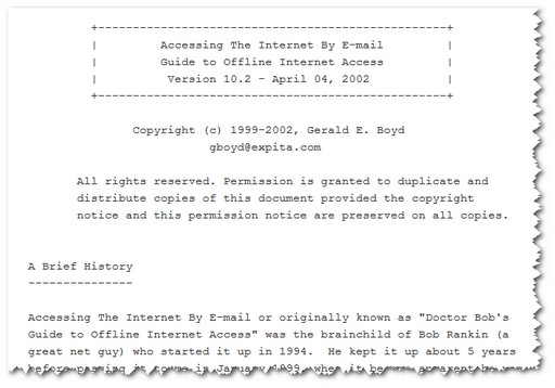 Internet-by-E-Mail